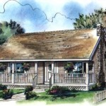 Plano de casa de un piso y dos dormitorios en 84 metros cuadrados
