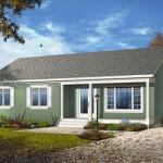 Plano de casa de 3 habitaciones y 110 metros cuadrados