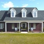 Plano de casa grande de 185 metros cuadrados