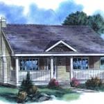Plano de casa sencilla de 57 metros cuadrados