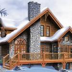 Plano de casa de 151 metros cuadrados y dos pisos