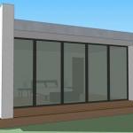Plano de casa moderna de 65 metros cuadrados