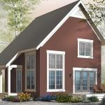 Plano de casa sencilla de dos pisos y 100 metros cuadrados