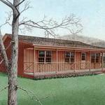 Plano de casa campestre de 90 metros cuadrados