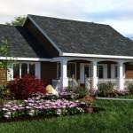 Plano de casa sencilla de 130 metros cuadrados