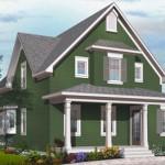 Plano de casa de madera de 200 metros cuadrados