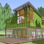 Plano de casa moderna de 100 metros cuadrados