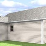 Plano de casa económica de 2 habitaciones