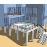 Casa de playa minimalista