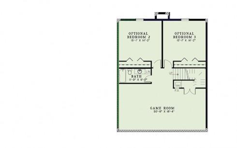plano de casa country con 3 habitaciones