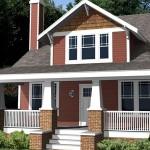 Plano de casa americana con 4 habitaciones