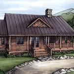 Plano de cabaña con 3 habitaciones