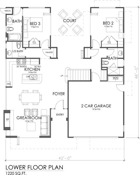 casa moderna 3 cuartos