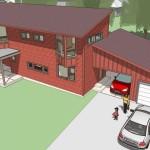 Plano de casa economica de campo