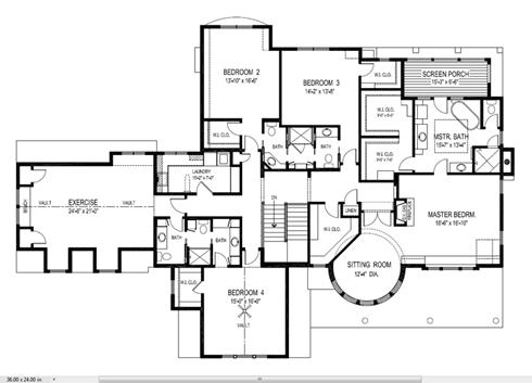 Plano de casa familiar de lujo planta 1