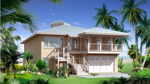 casa de playa con garage