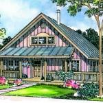 Plano de casa sencilla y clásica de madera
