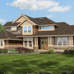 Plano de casa familiar grande con 4 habitaciones