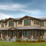 Plano de casa tradicional con 3 habitaciones