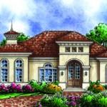 Plano de casa de lujo con piscina
