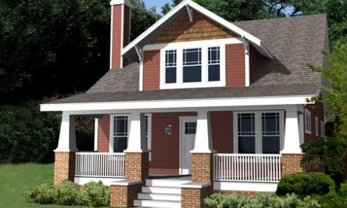 Plano de casa estilo Bungalow