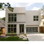 Plano de casa moderna con gran estudio
