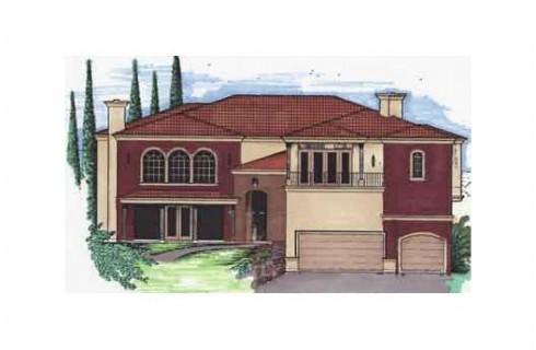 casa tradicional con garage