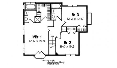 plano de casa familiar 3 habitaciones