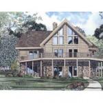 Plano de cabaña de madera sin garage
