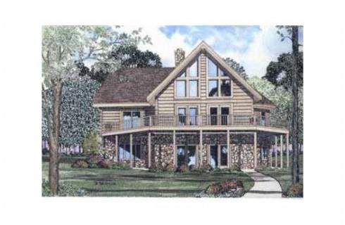 plano de casa de madera sin garage