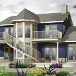 Plano de casa de playa espectacular y de lujo
