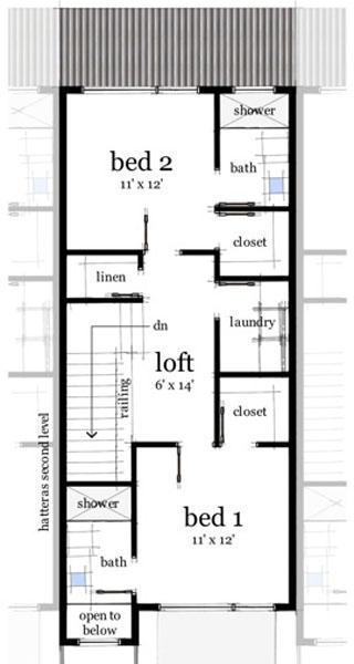 plano de casa moderna con garaje doble 1 planta