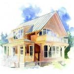 Plano de cabaña sencilla y de madera