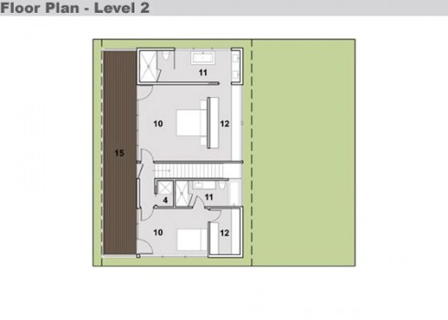 Plano casa moderna 2 niveles(nivel2)
