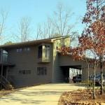 Plano de casa moderna de madera