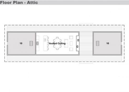 plano de casa moderna para lago
