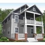 Plano de casa sencilla de dos pisos