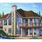 Plano de casa de campo moderna de madera