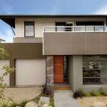 Plano de casa moderna con 3 habitaciones