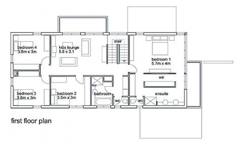 plano de casa moderna contemporanea,1 planta