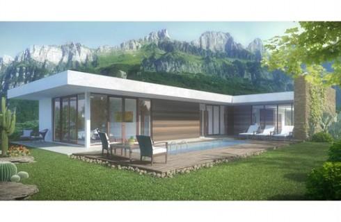 plano de casa moderna y minimalista