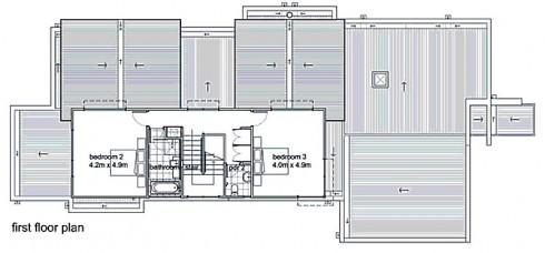 plano de casa moderna,planta 1