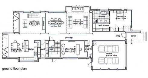 plano de casa moderna,planta baja