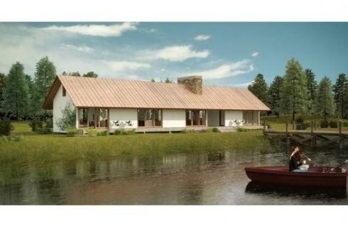 plano de casa para lago
